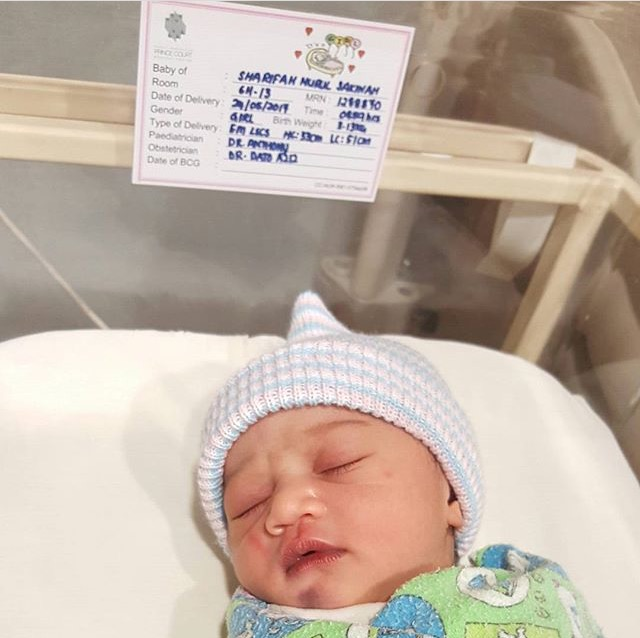 foto bayi comel sharifah sakinah didedahkan 3