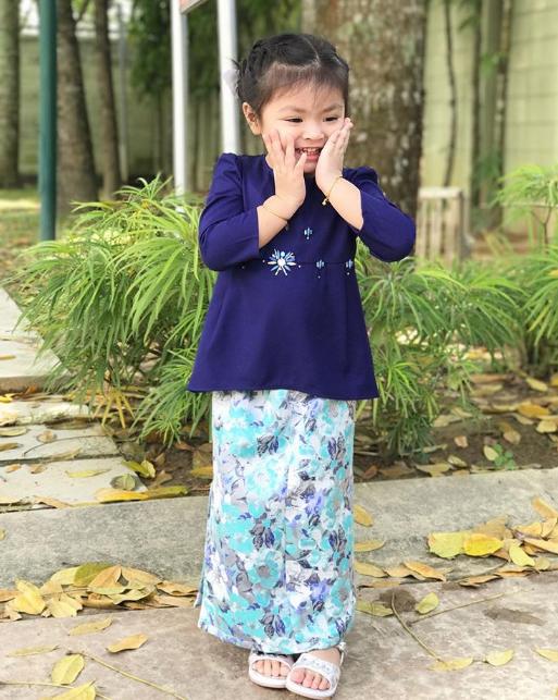 foto foto keletah aaisyah dhia rana dan lara alana di pagi raya cuit hati netizen 6
