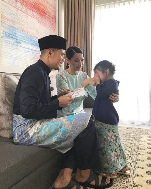 foto foto keletah aaisyah dhia rana dan lara alana di pagi raya cuit hati netizen 7