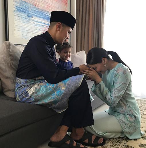 foto foto keletah aaisyah dhia rana dan lara alana di pagi raya cuit hati netizen 8