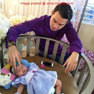 foto majlis berendoi dan cukur jambul anak pelakon nadya syahera 3