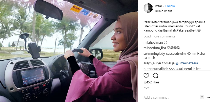 foto suami ummi nazeera lindung aurat isteri dapat pujian 2