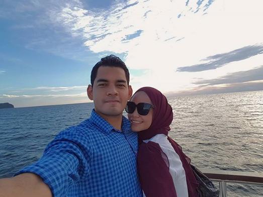 foto suami ummi nazeera lindung aurat isteri dapat pujian 3