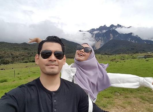 foto suami ummi nazeera lindung aurat isteri dapat pujian 5