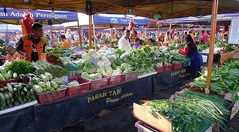 fresh vegetables pasar tani mega taman melawati