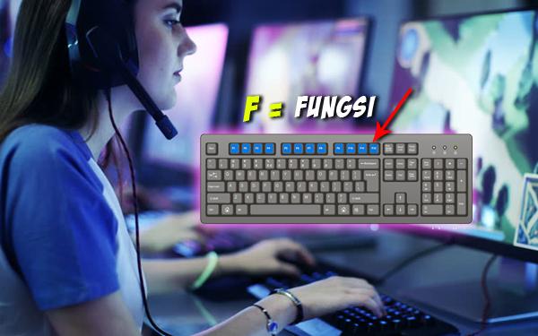 fungsi butang f1 sampai f12 keyboard papan kekunci