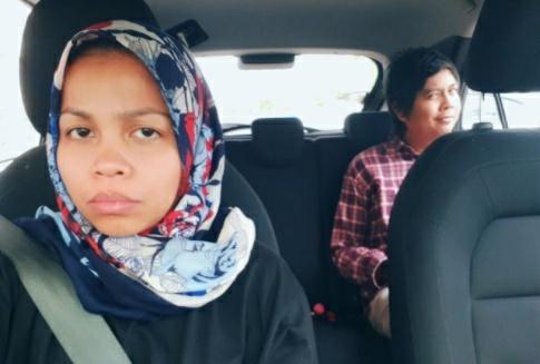 gadis pemandu uber dapat tempahan dari suami sendiri