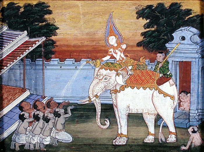 gajah putih haiwan suci