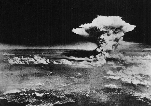 gambar dari udara sejurus selepas little boy meletup di atas bandar hiroshima pada tahun 1945