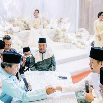 gambar jep sepahtu ketika akad nikah