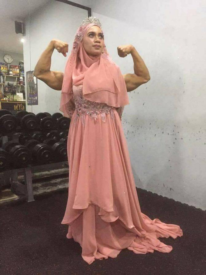 gambar kahwin pengantin di gym 8