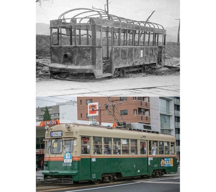 gambar keretapi hiroshima sebelum dan selepas kemusnahan