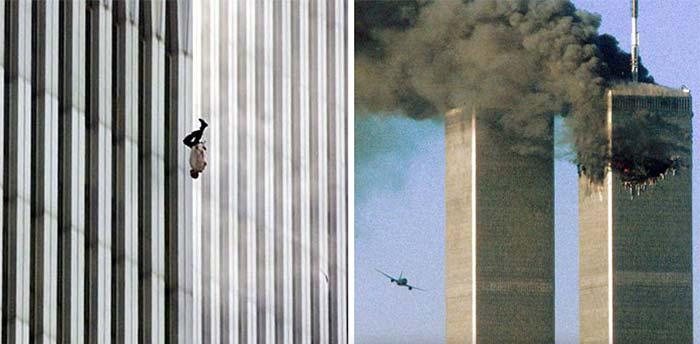 gambar lelaki jatuh peristiwa 911 teori konspirasi