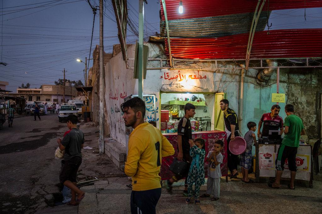 gambar pasar di wilayah kawal isis iraq