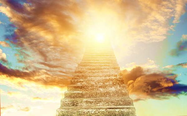 gambaran tangga ke syurga neraka