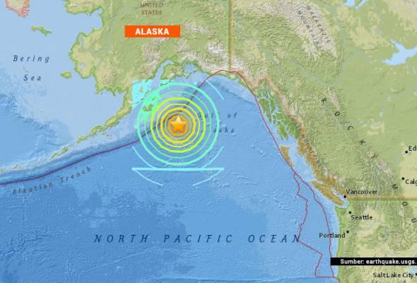 gempa bumi kuat gegar alaska amaran tsunami dikeluarkan