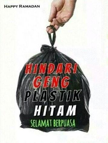 geng beg plastik hitam 433