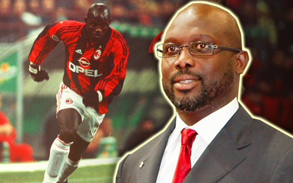 george weah presiden dikalangan pemain bola sepak
