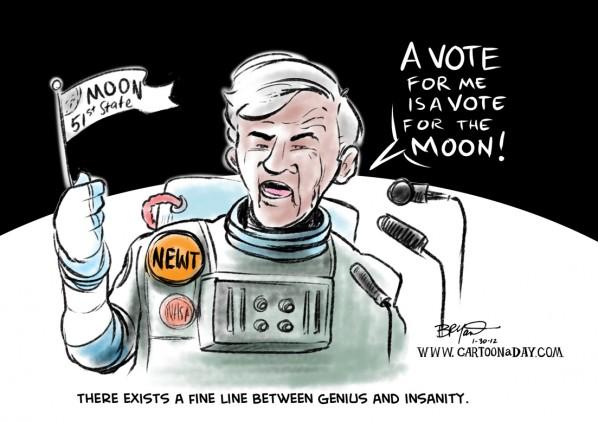 gingrich mahu buka koloni di bulan