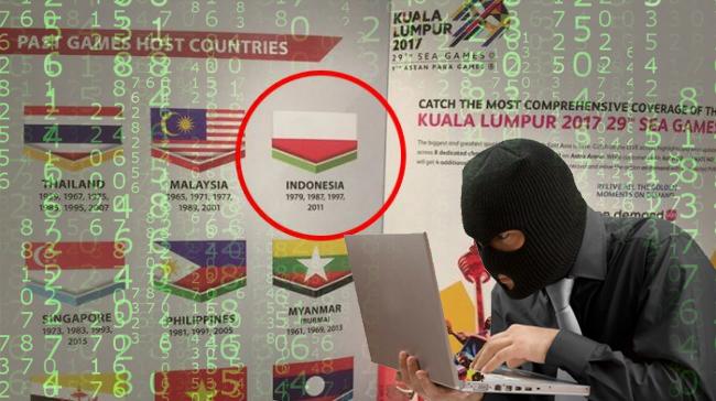 hacker indonesia bendera terbalik