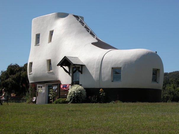 haines rumah kasut binaan bangunan pelik