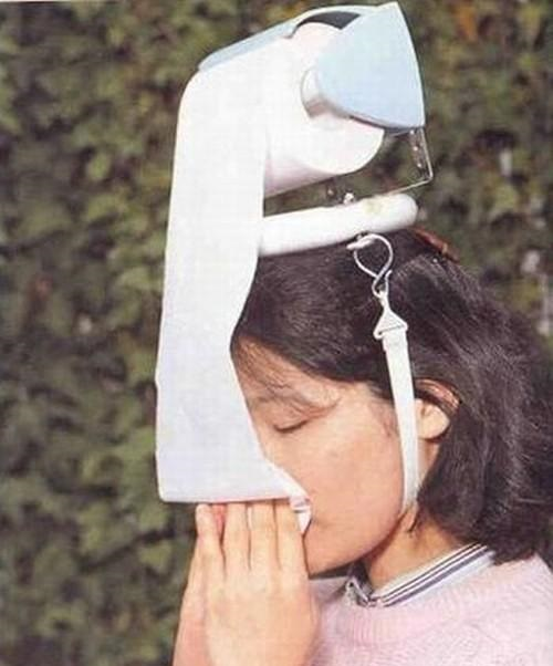 head mounted toilet paper dispenser