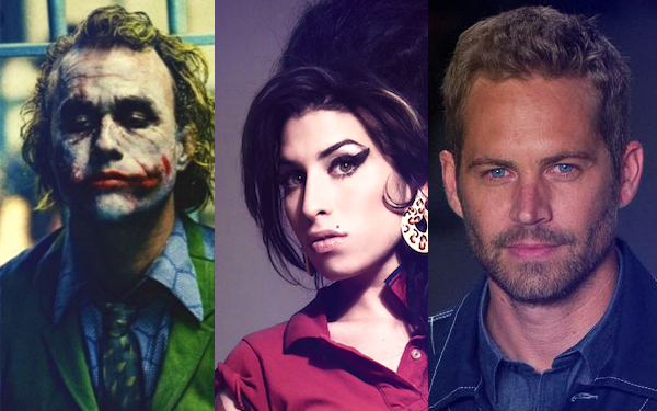 heath ledger amy winehouse paul walker