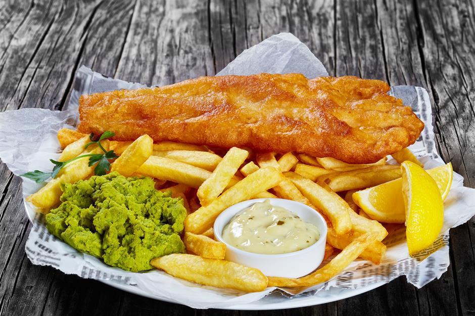 hidangan fish and chips