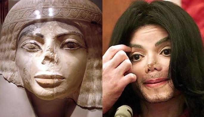 hidung michael jackson dan artifak mesir kuno hampir sama