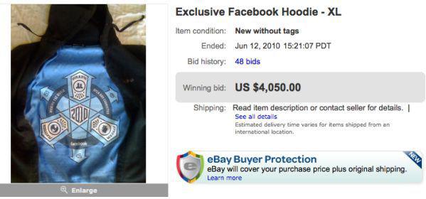 hoodie facebook pernah dijual dengan harga us 4000 di ebay