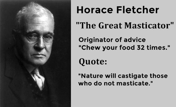 horace fletcher diet fletcherism teknik menguruskan badan ekstrem