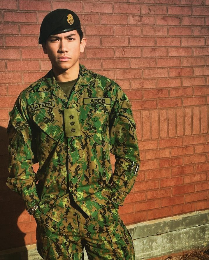 hot prince of brunei in military clothes