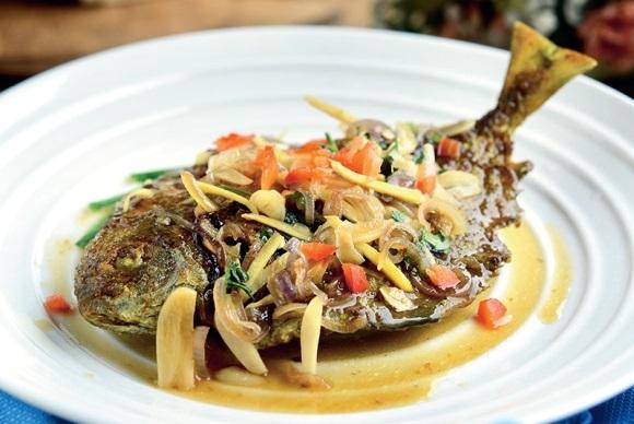 ikan goreng halia lauk menu pantang