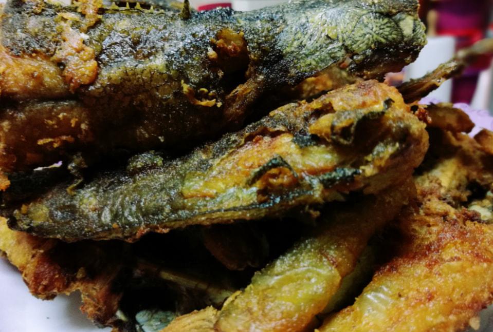ikan keli yang sudah digoreng