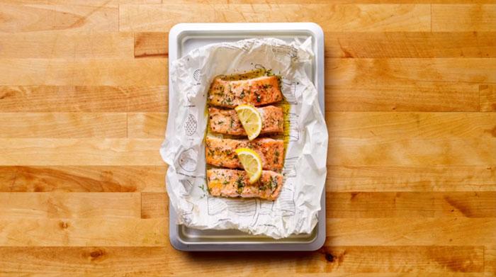 ikan salmon yang siap di masak