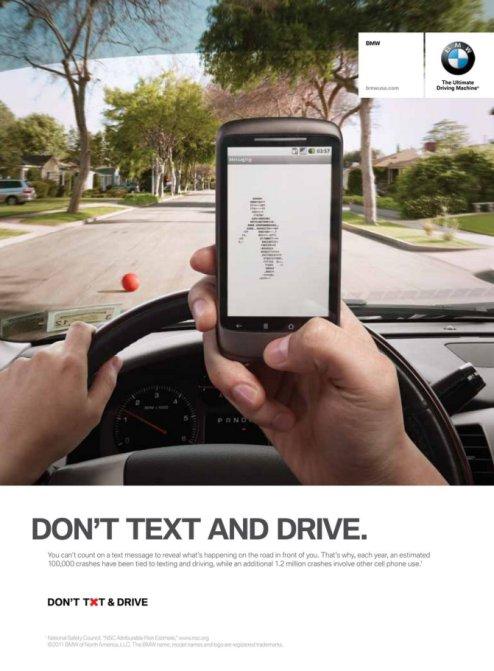 iklan bmw jangan main telefon semasa memandu