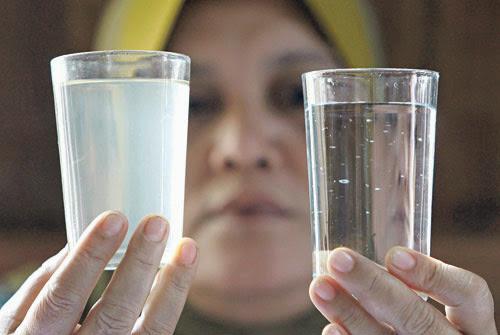 iluminasi air bekalan bersih kotor penapis air