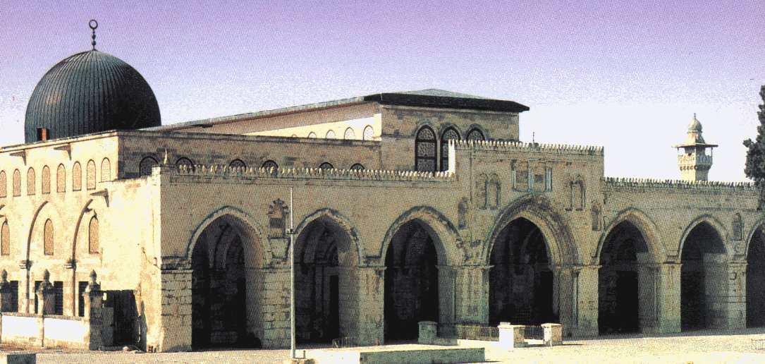 iluminasi kiblat kaabah al aqsa jerusalem mekah