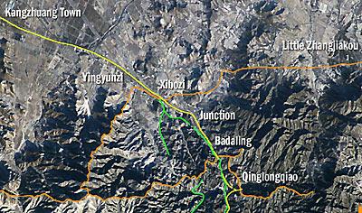 imej tembok besar china dari satelit