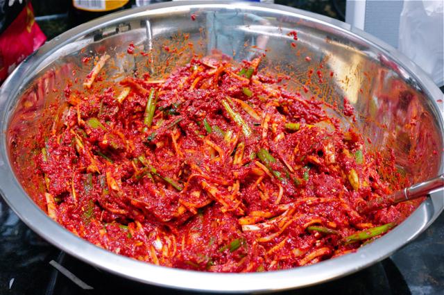inti kimchi pes sos resepi senang