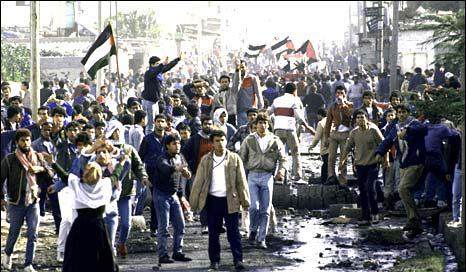intifada pertama pada tahun 1987