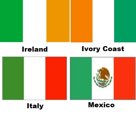 ireland ivory coast italy mexico bendera
