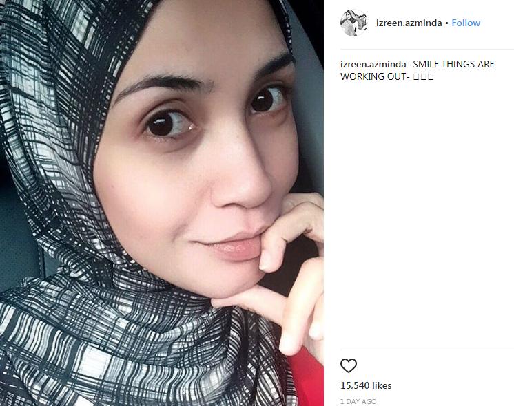 izreen azminda kembali lagi di instagram 2