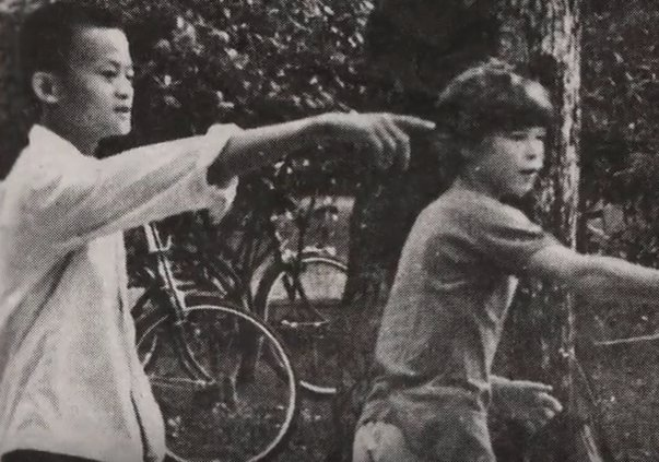 jack ma and david morley playing frisbee