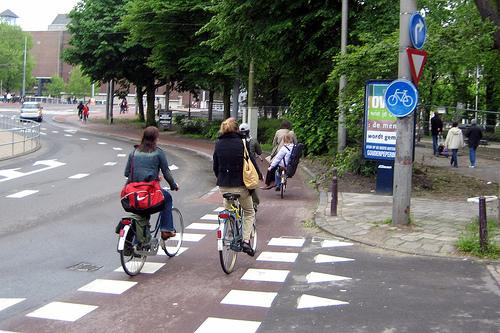 jalan basikal di amsterdam