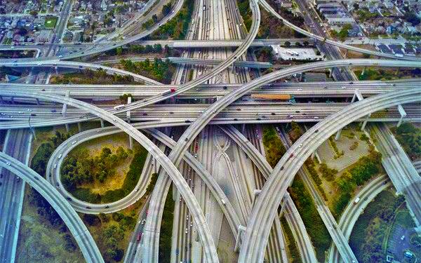 jalan raya paling rumit dan bertingkat tingkat