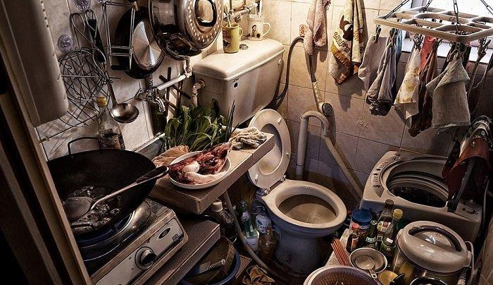 jamban dan dapur di satu ruang