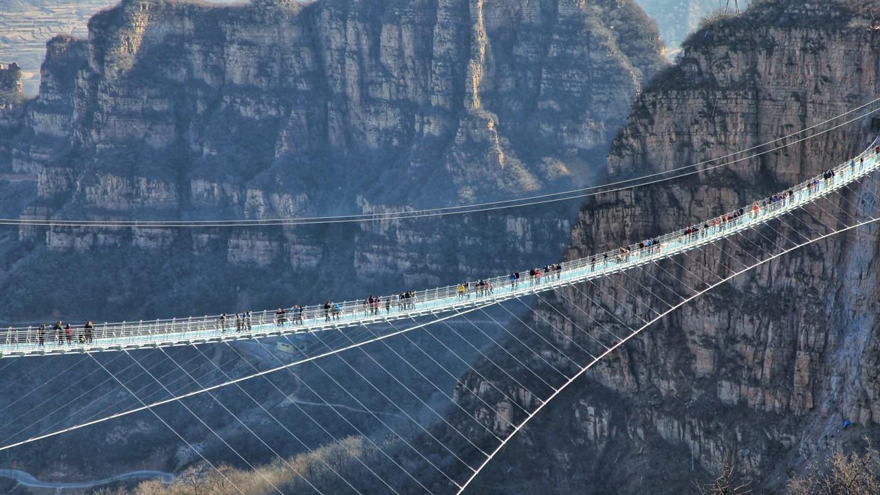 jambatan kaca hongyagu china