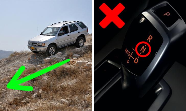 jangan biarkan gear di n ketika turun bukit
