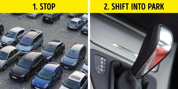 jangan masukkan gear p sebelum kereta berhenti sepenuhnya